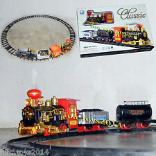 Battery Operated Classic Simulating a True Style Train Emits Smoke for Kids Toy