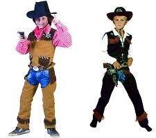 Cowboy Children's Boy's Costume Vest with Chaps Wild West Carnival Fasching New