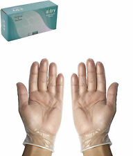 Axtry Disposable Vinyl Examination Hand Gloves Powder Free Food Graded 100 Pcs