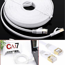 RJ45 Cat7 Flat Ethernet Network LAN SSTP Patch Cable Modem Gigabit Net DSL Lot