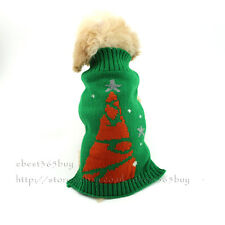 Dog Clothes Christmas Tree Winter Pet Puppy Cat Sweater knit Jumper Costume Xmas