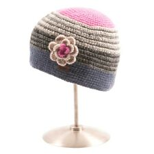 Ladies Kusan 100% Wool Crochet Beanie hat with detachable flower