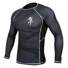 Hayabusa Metaru MMA Rash Guard - Long Sleeve - Black