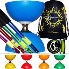 Cyclone Diabolo + Bacchette Diablo Colorate In Metallo + UltraSpin Filo E Borsa