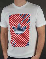 Adidas Originals - Adidas Trefoil Stripes T-shirt in White & Red - retro cotton