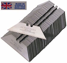 NEW BLADES SHEFFIELD MADE REPLACEMENT HEAVY DUTY STANLEY UTILITY KNIFE BLADES