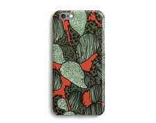 Funky Cactus Hard Glossy Case for iPhone 7, 6, 6s, Plus, SE, 5c 5s, 4s, Orange