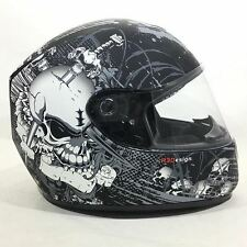 Viper RS-250 Skully Motorcycle Full Face Helmet Black Motorbike Crash Lid ACU