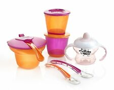 Tommee Tippee Weaning Kit Baby Feeding Set Food Holidays Travel Mash Bowl Spoon