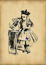 Vintage Art Alice in Wonderland Archival Art Print Wall Hanging - Party Alice
