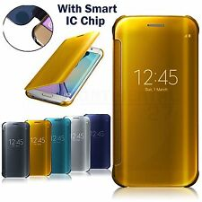 Luxury Mirror Smart Clear View Wallet Flip Case Cover For Samsung Galaxy S8 Plus