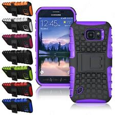 Heartly Flip Kick Stand Hard Dual Armor Back Case Cover Samsung Galaxy S6 Active