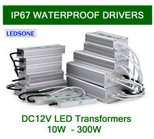 IP67 Waterproof LED Driver Power Supply Transformer AC240V- DC 12V For LED Strip