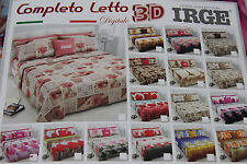 Lenzuola Completo Letto Matrimoniale IRGE Stampa 3D DIGITALE Varie Fantasie