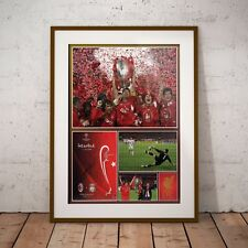 Liverpool FC Champions League 2005 Final Gerrard Signature Print Poster NEW