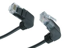 CAT5E Patch RJ45 Cable Ethernet Network Lead Lan Internet Wire Right Angle 1m 2M