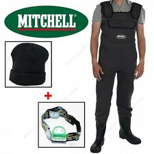 ENSEMBLE WADERS NÉOPRÈNE MITCHELL + LAMPE FRONTALE LED + BONNET