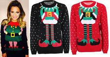 New Womens Ladies Celeb Inspired Christmas Headless Print Pull Over Jumper Top
