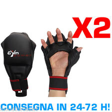 GYM POWER KIT RISPARMIO 2 PAIA DI GUANTI FIT-BOXE KUNG FU COBRA KARATE MMA SACCO