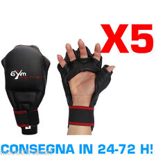 GYM POWER KIT RISPARMIO 5 PAIA DI GUANTI FIT-BOXE KUNG FU COBRA KARATE MMA SACCO