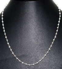 """18"""" white moonstone bead chain in .925 sterling silver-CS1060"""