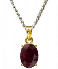 7.15 cts ruby oval shaped gemstone studded locket in .925 sterling silver-SP1240