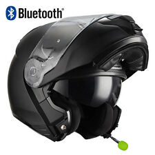 Casco de moto modular NZI Combi Duo Negro mate BLUETOOTH-INTERCOM Integrado