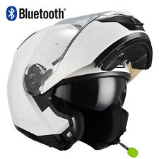 Casco de moto modular NZI Combi Duo Blanco BLUETOOTH-INTERCOM Integrado