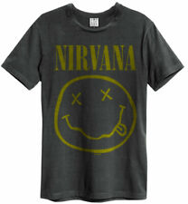 Amplified Nirvana Smiley Face T-Shirt Charcoal Gr. S-XXL Band T-Shirt