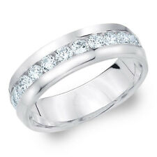 Herren Brillant Ring 1.00 Karat (IF/D) Lupenreine Diamanten, 585/14K Weißgold