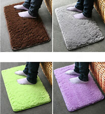 Bathroom Foam Shaggy Rug Anti Slip Bath Bedroom Mat Shower Carpet   Soft  Plush