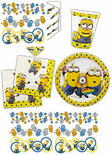 Minions Birthday Party Plates Cups Napkins Minion Table Cover Confetti Tableware