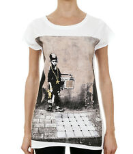 BANKSY / Hip Hop Boy, Breakdancer Womens White T-Shirt