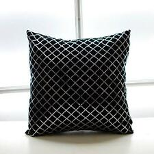 "Decorative Beaded Velvet Pillow Cover Luxury Black Sequin Cushion Cover 18""x18"""
