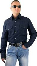 Jeans Shirt Country Western Style raw Denim for 1950's Rockabilly Hillbilly