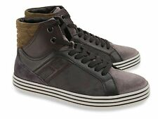 Sneakers alte Hogan Rebel uomo in pelle marrone