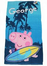 PEPPA PIG:GEORGE PIG SURFING BATH/BEACH TOWEL,VERY CUTE,,NEW WITH TAGS