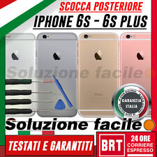 BACK COVER SCOCCA POSTERIORE APPLE IPHONE 6S E 6S PLUS SILVER GREY ROSE GOLD+kit