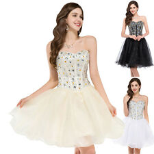 Semi Bead Short Homecoming Evening Cocktail Gown Bridesmaid Wedding PROM Dresses