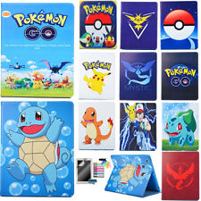 For apple iPad mini 1/2/3 Magnetic PU leather case flip folio cartoon Pokemon Go