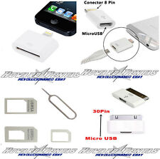 Adaptador 30 pin a Lightning, Micro USB A 8 Pin, Micro USB A 30 Pin iphone 4 5 6