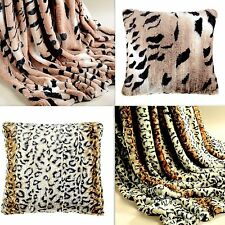 Gorgeous Rabbit fur-alike Faux fur LEOPARD & TIGER throws and  Cushion Covers