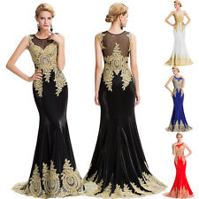 Long Evening Formal Dresses Party Ball Gown Prom Bridesmaid Carpet Wedding Dress
