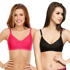 Clovia Cotton Non-Padded Wirefree Full Cup Bra - (Pack Of 2) (BRC185C60)