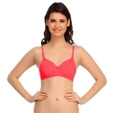 Clovia Padded T-Shirt Bra In Peach With Detachable Straps (BR0407P16)