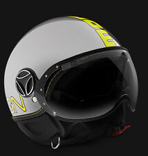 CASCO MOMO DESIGN FIGHTER EVO METAL DECAL GIALLO FLUO DOPPIA VISIERA
