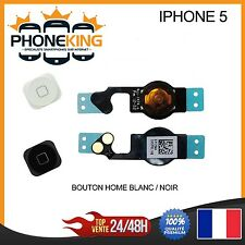 BOUTON HOME + NAPPE COMPLET IPHONE 5  NOIR / BLANC