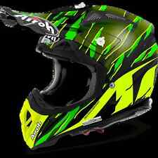 CASCO HELMET OFF ROAD AIROH  2017 AVIATOR 2.2 THREAT GREEN MATT VERDE OPACO MOTO
