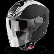 CASCO HELMET URBAN JET AIROH 2017 HUNTER SIMPLE BLACK MATT NERO OPACO MOTO