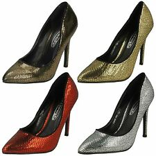 Ladies Spot On Snake Design Evening Court Shoes F9590 The Style ~ K